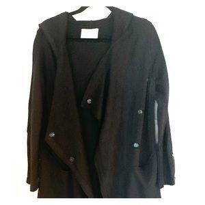 Hood 3/4 black jacket
